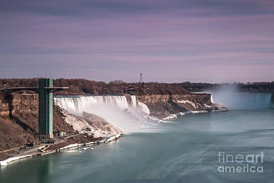 Photograph - View On Niagara Falls During Sunset by Andriy Stefanyshyn