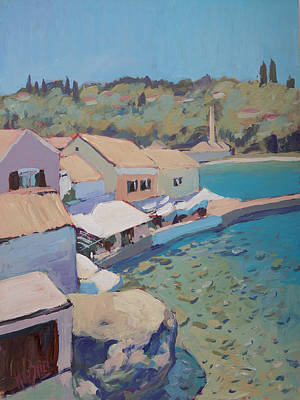 Painting - View On The Loggos Pier by Nop Briex