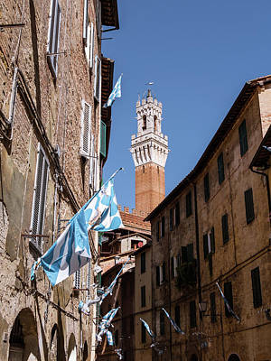 Have A Cupcake - View on Torre del Mangia in Siena, Italy by Tosca Weijers