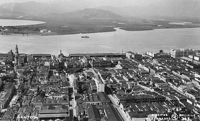 View Over Santos Art Print by Hulton Archive