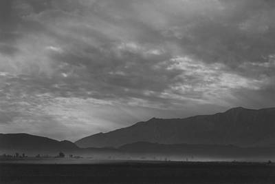 Photograph - View Sw Over Manzanar, Dust Storm by Buyenlarge