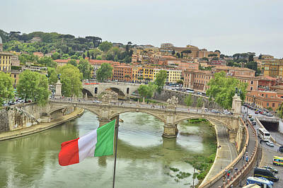 Photograph - View The Tiber River by JAMART Photography