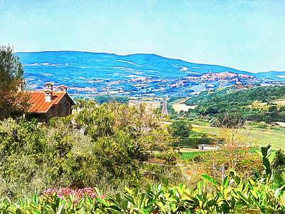 Photograph - View To Chiusi From Moiano by Dorothy Berry-Lound