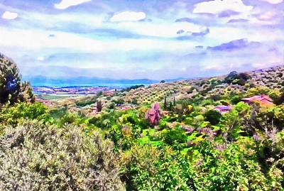 Photograph - View To Lago Trasimeno From Paciano by Dorothy Berry-Lound