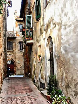 Photograph - View To Main Street Pienza by Dorothy Berry-Lound