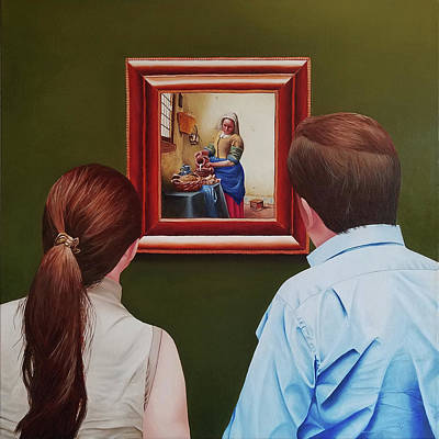 Painting - Viewing Vermeer by Vic Ritchey