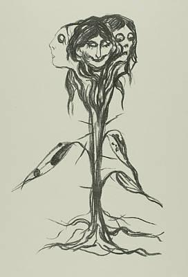 Relief - Vignette - Amaryllis by Edvard Munch