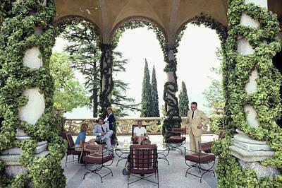 Italy Photograph - Villa Del Balbianello by Slim Aarons