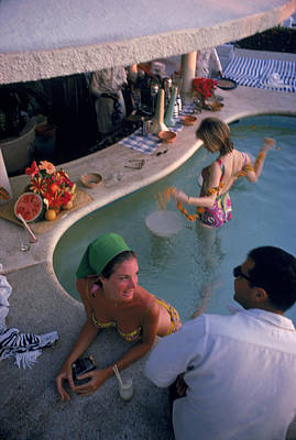 Photograph - Villa Vera Pool Bar by Slim Aarons