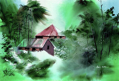 Painting - Village 1 by Anil Nene