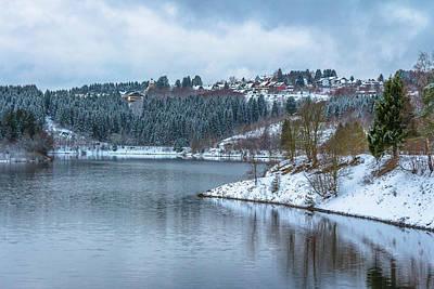 Photograph - Village Schulenberg Oberharz In Front The Lake Okerseestaubecken by ReDi Fotografie