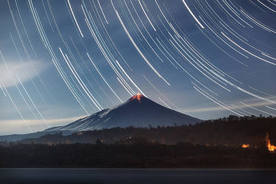 Photograph - Villarrica Star Trails by Photography by KO
