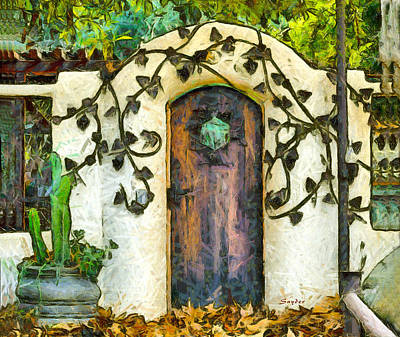 Photograph - Vine On The Wall  by Barbara Snyder