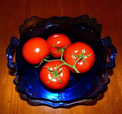 Photograph - Vine Tomatoes Still Life by Will Borden