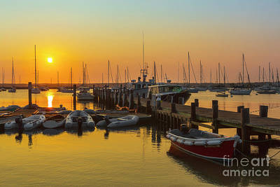 Photograph - Vineyard Haven Harbor Sunrise I by Clarence Holmes