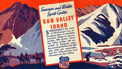 Mannequin Dresses Rights Managed Images - Vintage Ad for Sun Valley Idaho Royalty-Free Image by Marilyn Hunt
