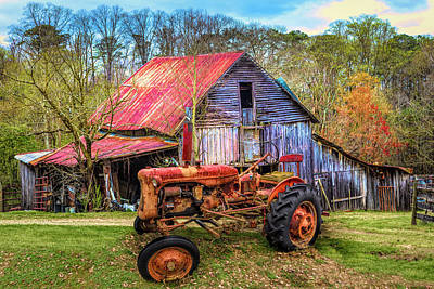 Photograph - Vintage At The Farm In Hdr by Debra and Dave Vanderlaan