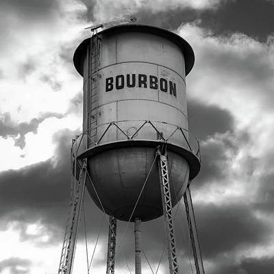 Photograph - Vintage Bourbon - Bw Square Print by Gregory Ballos