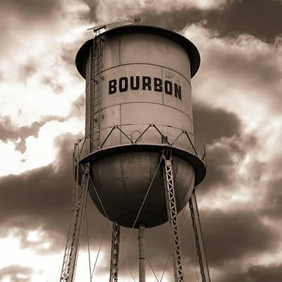 Photograph - Vintage Bourbon - Sepia Square Print by Gregory Ballos