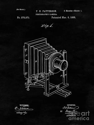 Vintage Camera Drawing - Vintage Camera Blueprint Drawing Sheet One by Tina Lavoie