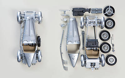 Photograph - Vintage Car From Above, Assembled And by Dimitri Otis