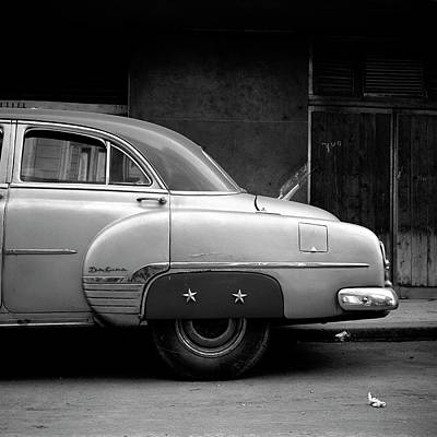 Photograph - Vintage Car In Havana, Cuba by Huy Lam