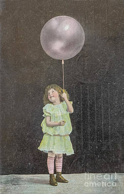 Grateful Dead - Vintage child with balloon by Patricia Hofmeester