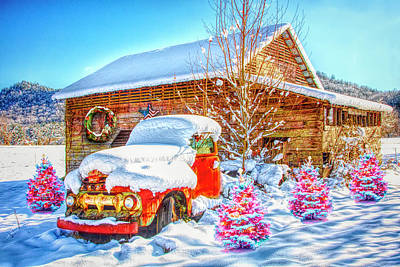 Photograph - Vintage Christmas In Hdr Detail by Debra and Dave Vanderlaan