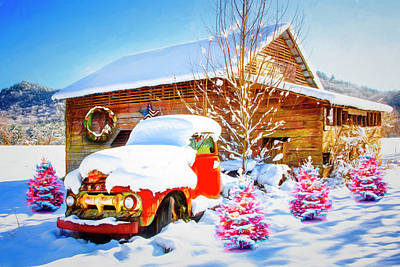 Photograph - Vintage Christmas  Painting by Debra and Dave Vanderlaan