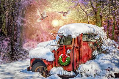 Photograph - Vintage Christmastime In Hdr Detail by Debra and Dave Vanderlaan