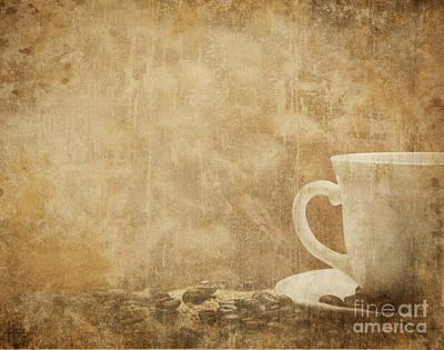 Photograph - Vintage Coffee Background by Jelena Jovanovic