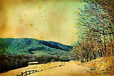 Studio Grafika Zodiac - Vintage Country Mountain Road  by Cathy Lindsey