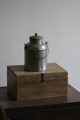 Photograph - Vintage Creamer Can On Top Of Chest by Colleen Cornelius