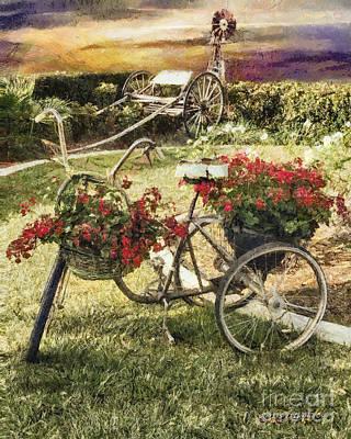 Digital Art - Vintage Farm by Rhonda Strickland