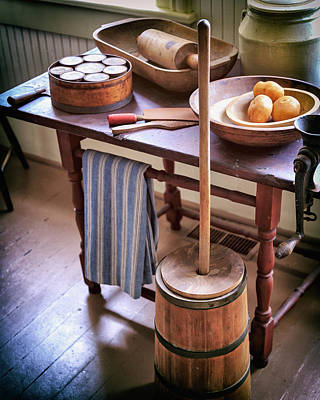 Photograph - Vintage Farmhouse Butter Churn by James Eddy