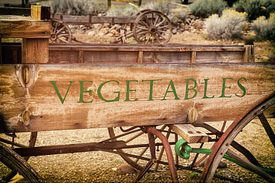 Photograph - Vintage Farmhouse Vegetable Wagon by James Eddy