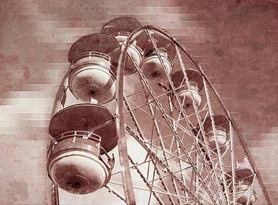 Digital Art - Vintage Ferris Wheel by Jason Fink