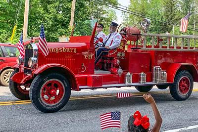 Photograph - Vintage Fire Engine by Kendall McKernon
