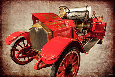 Photograph - Vintage Fire Truck Mt. Airy North Carolina by Dan Carmichael