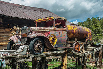 Photograph - Vintage Ford Tanker by Tony Baca
