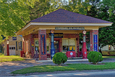 Photograph - Vintage Gas Station by Jerry Gammon