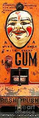 Photograph - Vintage Gum Machine Penny Arcade Nostalgia 20181224 by Wingsdomain Art and Photography