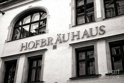 Photograph - Vintage Hofbrauhaus Munchen by John Rizzuto