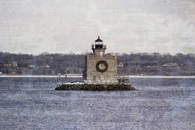Photograph - Vintage Huntington Lighthouse  by Karen Silvestri
