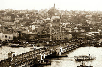Photograph - Vintage Istanbul View by John Rizzuto
