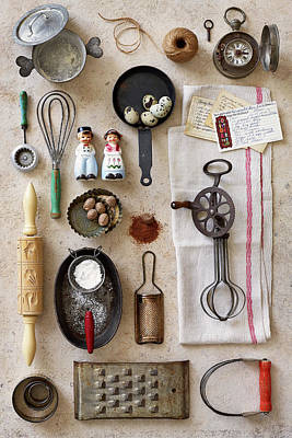 Photograph - Vintage Kitchen Baking Tools by Annabelle Breakey