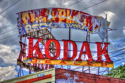 Photograph - Vintage Kodak Sign Ponce De Leon Signage Atlanta Georgia Art by Reid Callaway