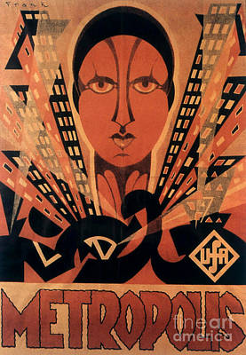 Painting - Vintage Movie Poster For Metropolis, Directed By Fritz Lang, 1927 by German School