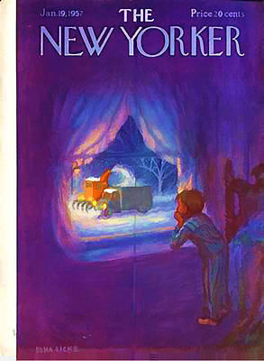 Colorful People Abstract Royalty Free Images - Vintage New Yorker Cover - Circa 1957-2 Royalty-Free Image by Marlene Watson