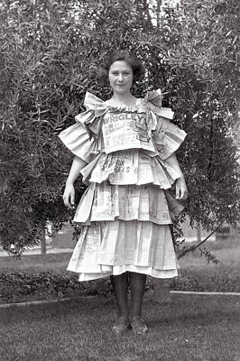 Photograph - Vintage Newspaper Dress Halloween by Marilyn Hunt